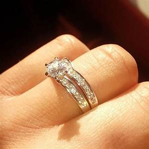 Wedding rings shaped to fit engagement rings for Wedding band for teardrop engagement ring