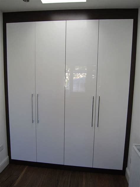 Small White Wardrobe by Beautiful Gloss Fitted Wardrobes Design Trends