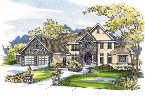 French Country Estate Home Plan