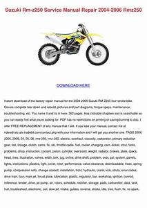 Suzuki Rm Z250 Service Manual Repair 2004 200 By