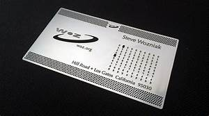 Steve wozniak has the coolest business card i39ve ever seen for Wozniak business card