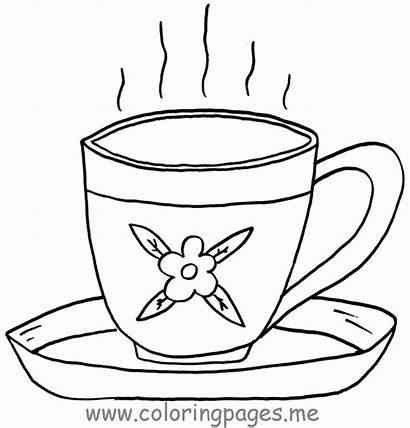 Coloring Tea Cups