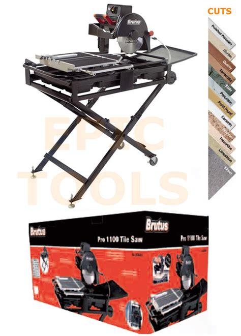 Brutus Tile Cutter by Brutus 110v Pro 1100 Sliding Tile Saw Cutter 250mm