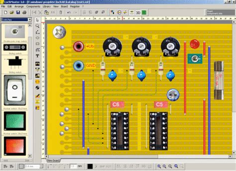 electronic design software design and test stripboard projects using lochmaster top