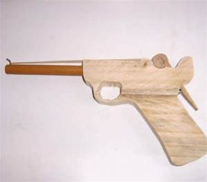 How to make a clothespin luger rubberband gun