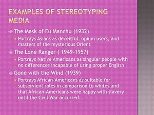 Stereotyping In Mass Media