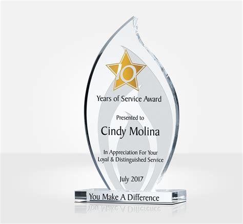 flame long service award plaque diy awards