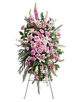 glorious farewell spray sympathy arrangement teleflora