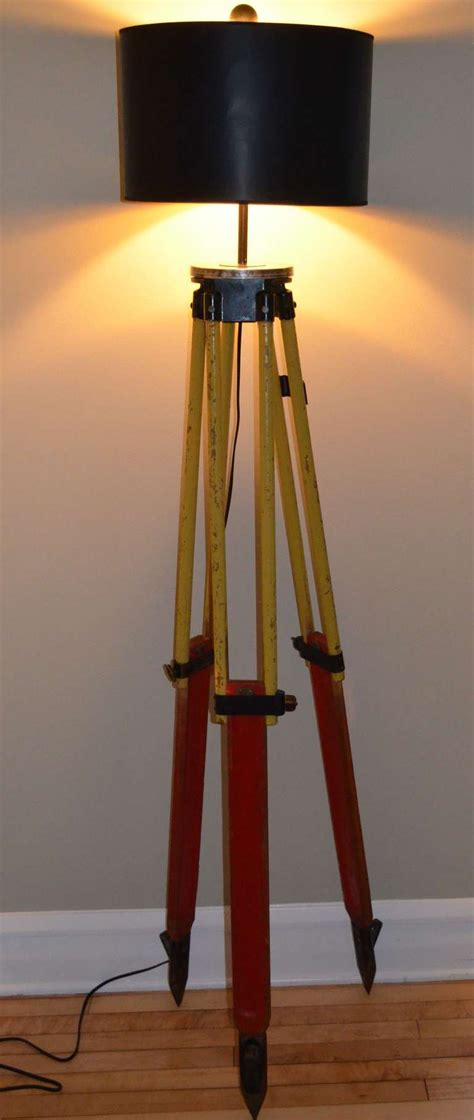 Surveyor Floor L Tripod by Floor L Made From A Surveyor S Tripod At 1stdibs