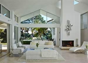 = Modele Deco Salon Blanc Gris ~ Avec Des Idées ...