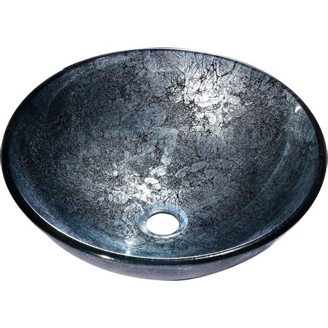 y decor zermatt vessel sink in blue and silver zermatt