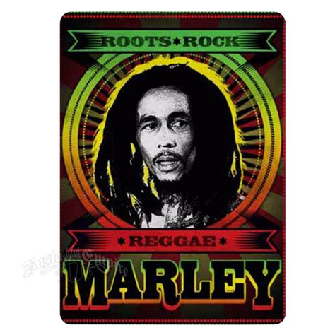 bob marley roots rock reggae fleece throw rastaempire com
