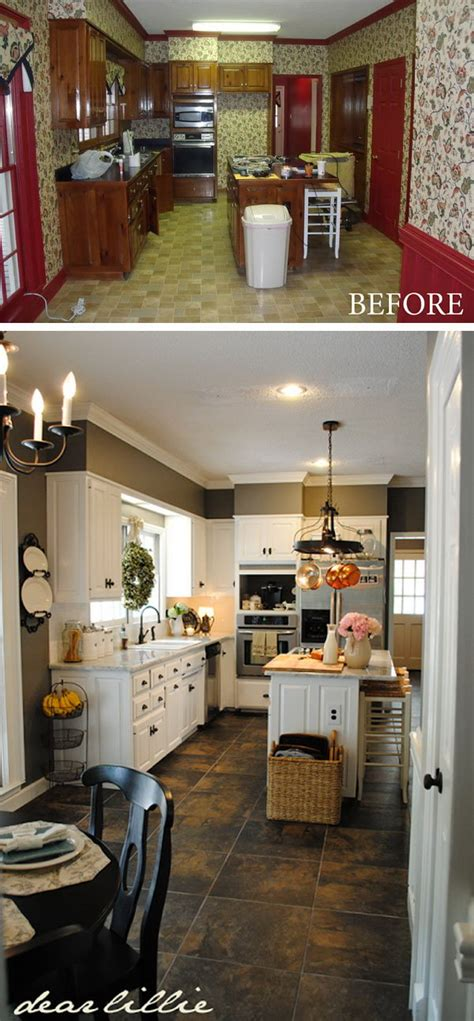 small kitchen makeovers before and after before and after 25 budget friendly kitchen makeover 9342