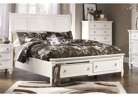 prentice king sleigh storage bedroom set evansville