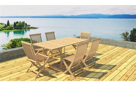 table de jardin avec rallonge table de jardin en bois avec rallonge en teck massif 6 places
