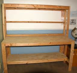 simple wooden workbench  steps  pictures