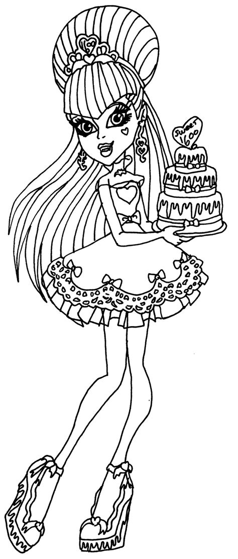 monster high draculaura coloring pages getcoloringpagescom