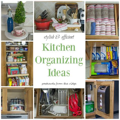 organizing ideas for kitchen postcards from the ridge creative ideas for organizing craft supplies many more organizing tips
