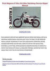 Puch Magnum X 50cc Dirt Bike Workshop Service By