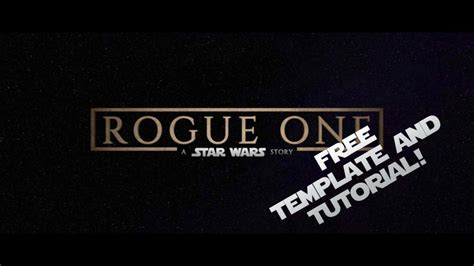 Fcpx Trailer Templates by How To Make Rogue One Titles In Fcpx