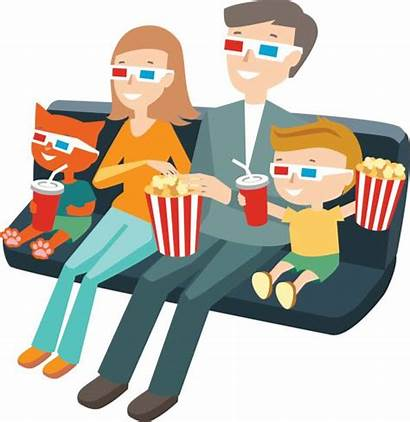Watching Cinema Sitting Vector Illustration Clip Illustrations