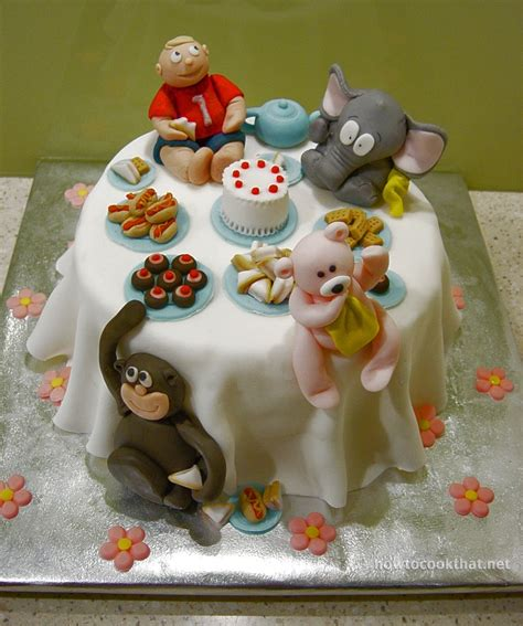 Teddy Bear Fondant Birthday Cake  Fondant Cake Images