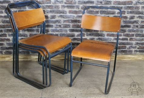 vintage metal stacking chairs restaurant chair
