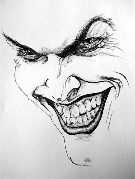 The Joker - completely drawn in Biro (first attempt at a