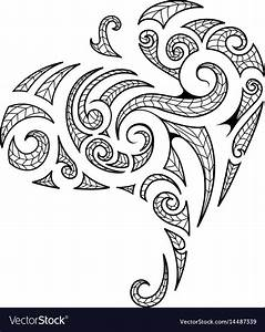 Maori style tribal art tattoo Royalty Free Vector Image