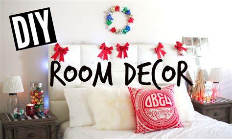 diy holiday room decor easy tumblr christmas room youtube