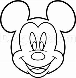 How to Draw Mickey Mouse For Kids, Step by Step, Disney ...