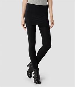 Allsaints Raffi Leggings in Black | Lyst
