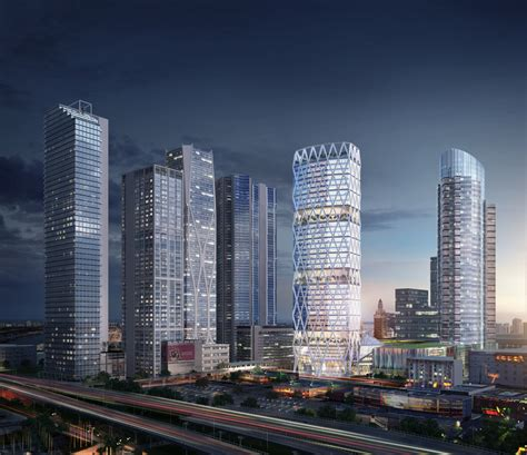 'futuristic Diagrid Office Tower At Worldcenter Will Be