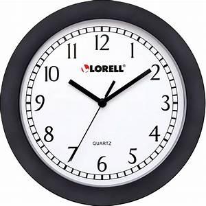 Home, Office, Supplies, General, Supplies, Clocks, Wall, Clocks, Lorell, 9, U0026quot, Round, Profile