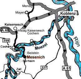 routebeschrijving naar family camping  mesenich aan de moezel