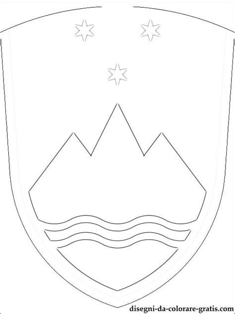stemma della slovenia da colorare disegni da colorare gratis