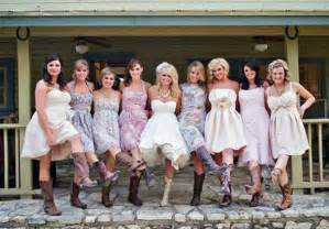 bridesmaid dresses with boots country wedding dresses with cowboy boots 2013 pictures fashion gallery