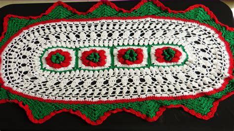 como tejer tapete navide 209 o ovalado y con puntos calados tejido a crochet paso a paso video
