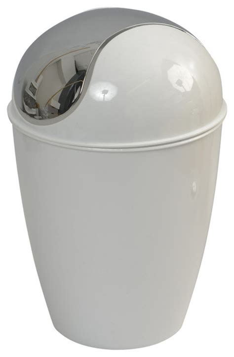chrome bathroom trash can with lid bathroom waste basket trash can solid shiny color with