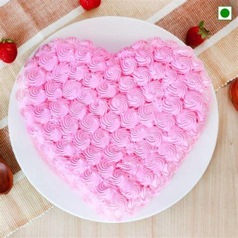 heart shaped strawberry cake box  cake