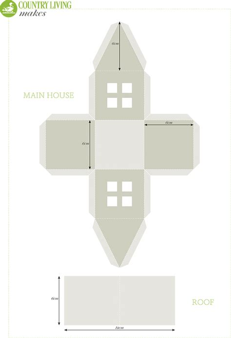 Making Your Own Rug by Christmas Craft Light Up Paper House Template
