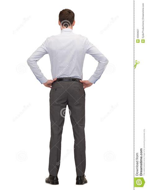 arri鑽e plan de bureau homme d 39 affaires ou professeur de dos photo stock image 43060627