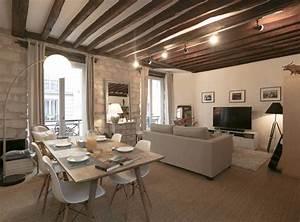 decoration poutres apparentes annonces immobilieres yakaz With deco maison avec poutre 8 1001 conseils et idees pour amenager un salon rustique