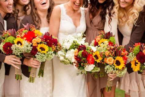 wedding flower ideas  fall weddings