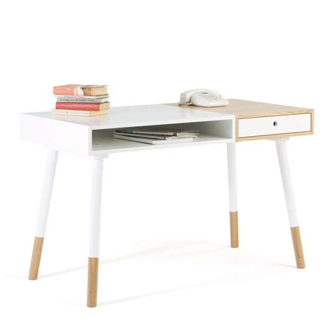 le bureau design bureau blanc et bois bureau blanc plateau bois le bureau