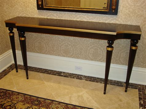 gold entry table walnut gold entry hall table traditional hall minneapolis by heirloom custom woodworks