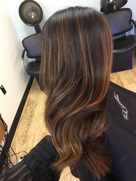 Black Or Brown Hair by Soft Blended Honey Golden Sun Kissed Balayage Highlights