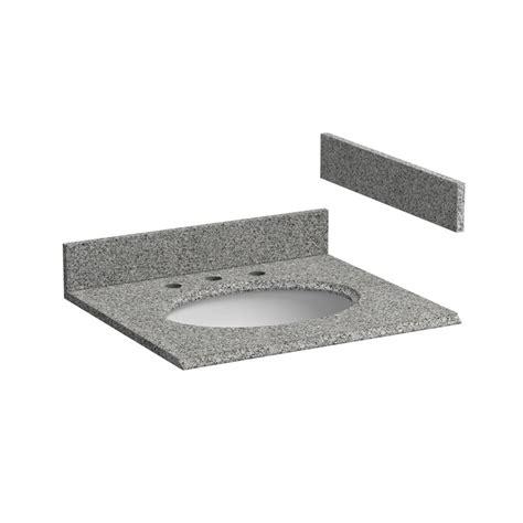 foremost 25 quot x 22 quot granite single bowl vanity top only rushmore grey hg25228rg j keats