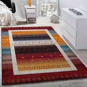 designer teppich modern loribaft nomaden bordure gemustert With balkon teppich mit tapete blumen modern