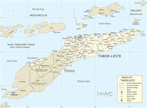 timor island map dili east timor